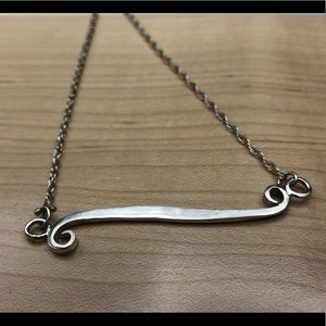 """Forged sterling silver """"Flourish"""" necklace✨"""